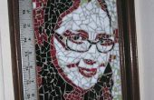 Faire un portrait en mosaïque vitrail grâce à une photographie.