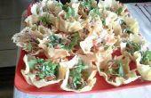 Salade dans un panier de Parmesan