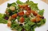 Égayer ennuyeux salades aux croûtons maison