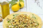 Salade de quatre grains avec ail, citron & herbes - AllGoneVegetarian