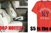 Housses de sièges de voiture rapide et facile de T-shirts et autres articles vestimentaires