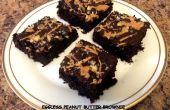 Brownie au beurre d'arachide sans oeufs