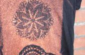 Teindre une chemise avec eau de Javel et un napperon