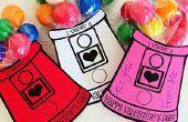 Gumball Machine Valentines (avec gratuit imprimable)