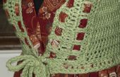Crochet et tissu robe