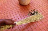Zéro Budget balai de feuilles d'arbres de noix de coco