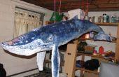"""6 pieds papier mâché """"baleine à bosse"""