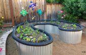 Soulevées lit jardin toiture tôle à