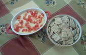 Trempette de pois chiches au fromage et craquelins maison