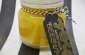 BRICOLAGE : bougie de cire d'abeille Mason Jar