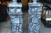 Colonnes d'entrée de gargouille en pierre
