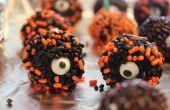 L'un aux yeux des boules de chocolat collants