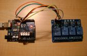 Relais de télécommande 4 avec Arduino via le WIFI (touchOSC + traitement)