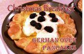 Noël petit déjeuner - crêpes four allemand