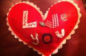 Coeur de coussin « Je t'aime »