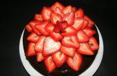 Fleur de fraise - gâteau au chocolat