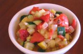 Mariné de Squash et salade de poivrons rôtis