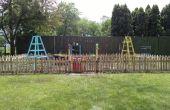 Clôture de jardin palette-bois