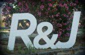 Lumineux de grosses lettres en bois avec « détecteur juste marié »
