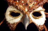 Masque de hibou de cuir
