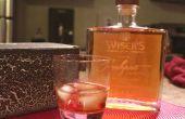 Gravure de verre | Bouteille de Whisky, gravée laser