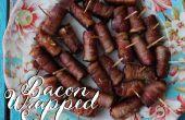 Bacon enveloppé saucisses !