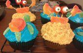 Comment faire de plage sur le thème Cupcakes avec du crabe et décorations de la tortue