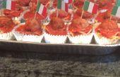 Spaghetti et boulettes de viande Cupcakes