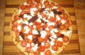 Pizza au fromage chèvre