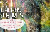 Foulards Galaxy avec Tumble colorant peint