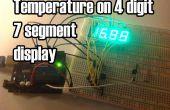 La température s'affiche sur 4 chiffres 7 segments (anode commune)
