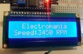 Ventilateur t/mn avec capteur à effet hall interne et Arduino (Intro à interrompre la matériel et écran LCD)