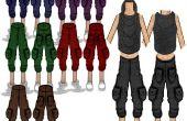 BAGGY et recadrée : pantalon DENIM recadrée/KHAKI