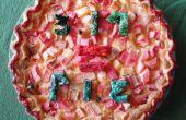 Rhubarbe flan Pi = Pie