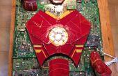 Iron Man Mixed-Media vitrail ordinateur composante mosaïque