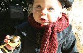 Béret et manteau de bébé