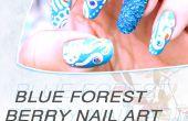 Forêt de Blue Berry Nail Art Design