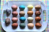 Oeufs de Pâques de colorant naturel