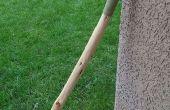 Comment faire une poignée en cuir pour un bâton de marche