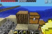 Comment cloner des blocs en pe de minecraft !