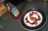 Lin sain & oeufs gaufre petit-déjeuner