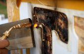 Pochoir pour chauffage au bois / fire typographie