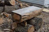 Tronçonneuse Checkers Board Build (tour du bois de chauffage dans une planche de jeu de dames)