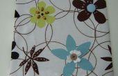 Art de mur de panneau de tissu avec des embellissements