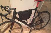 Vieux sac à dos pour vélo cadre sac