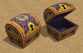 Papercraft coffres au Trésor jeu vidéo
