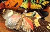 Papillon pailleté, boîte cadeau ornements