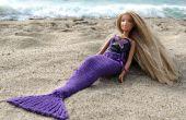 Queue de sirène pour poupées en tricot