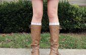 Rapide et facile dentelle Peek-a-Boot chaussettes