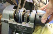 Décapage d'une poupée de tour (vitesse 10) Myford ML10 - roulements à rouleaux coniques